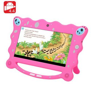 7 Inch Android Kids Tablet - 1024x600 HD Screen, 4GB, Android 4.4, Quad Core CPU, Wi-Fi, Two Cameras