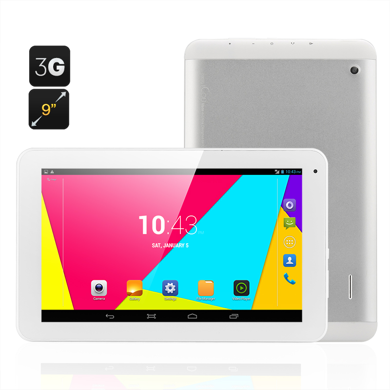 D9 Android Tablet - 3G, 9 Inch Display, MTK8312 Dual Core CPU, 2x SIM Card Slots