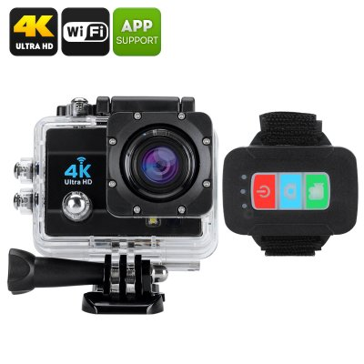 Q3H Waterproof 4K Sports Camera - 16MP, 4X Digital Zoom, 2 Inch LCD Screen, 170 Degree Wide Angle Le